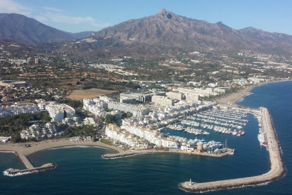 Puerto Banus helicopter flight view