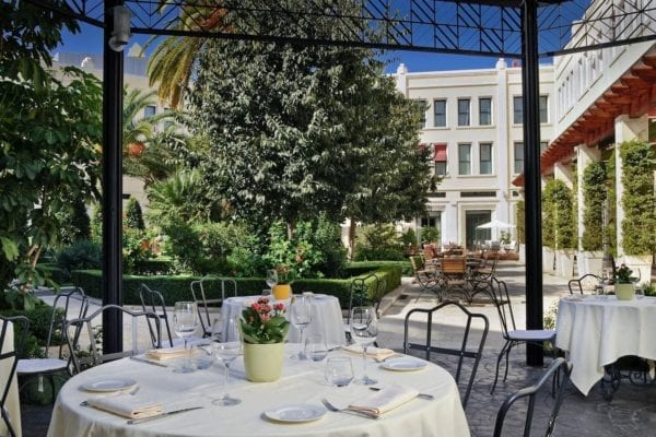 westin palace restaurante patio