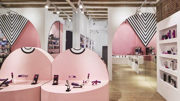 interior de la tienda delicatessen X